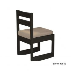 Solid Wood 3 Position Chair - Wood Back & Foundation Fabric - Cottage Collection