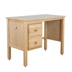 Solid hardwood study desk with 2 drawers and wheels, maxtrix or maxwood furniture, by Bunk Beds Canada of Vancouver.