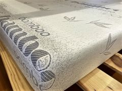 "Memory Foam Mattress. Twin Size, 6"" High Density, with Bamboo Cover"