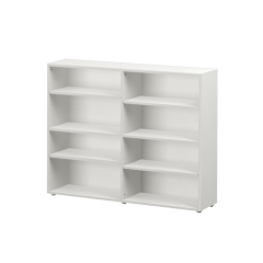Bookcase - Modular Design - 8 Shelf - 5343 - White