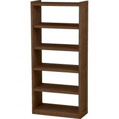 Solid Wood Bookcase - Cottage Collection - w Open Back - Brindle