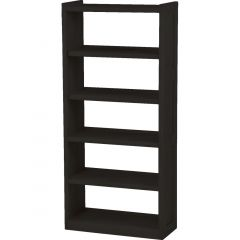 Solid Wood Bookcase - Cottage Collection - w Open Back - Espresso