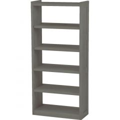 Solid Wood Bookcase - Cottage Collection - w Open Back - Graphite