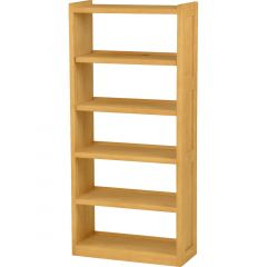 Solid Wood Bookcase - Cottage Collection - w Open Back - Classic