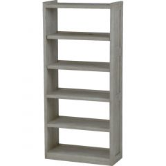Solid Wood Bookcase - Cottage Collection - w Open Back - Storm