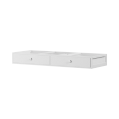 Underbed Dresser Unit - Modular Design - 2 Drawers - White