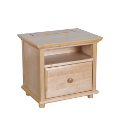 Nightstand - Modular Design - w Charging Station - 2624 - Natural