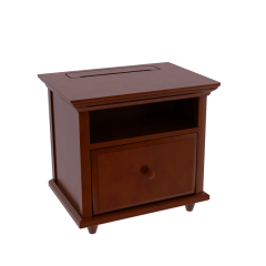Nightstand - Modular Design - w Charging Station - 2624 - Chestnut