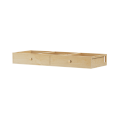 Underbed Dresser Unit - Modular Design - 2 Drawers - XL - Natural