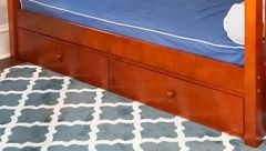 Underbed Dresser Unit - Modular Design - 2 Drawers - XL - Chestnut
