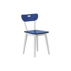 Chair - Modular Collection - Frame White - Blue Seat n Back
