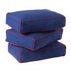 Back Pillows - Modular Collection - Set of Three - Blue/Red