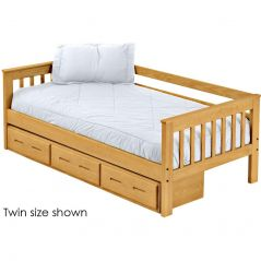 Solid Wood Daybed - Mission Design - w 3 Drawer unit - Twin - Classic
