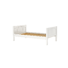 Solid Wood Platform Bed - Modular Design - Panel - 3131 - Single - White