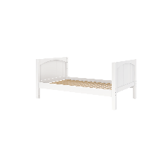 Solid Wood Platform Bed - Modular Design - Panel - 3636 - Single - White