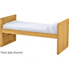 Solid Wood Captain Bed - Panel Design - 3939 - Twin - Classic