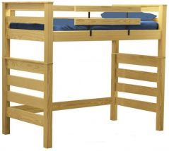 """Solid Wood Loft Bed - Timber Design - Single - 72"""" H - Classic"""