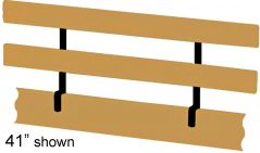 "Solid Wood Guardrail - Cottage Collection - Guardrail add-on - 74"" - Classic"