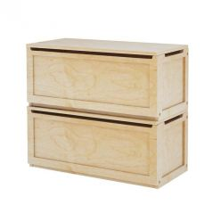 Stacked Two Toy Chests - Modular Design - 3832 - Natural