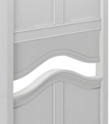 Vanity Panel - Modular Collection - Curved - Single - White