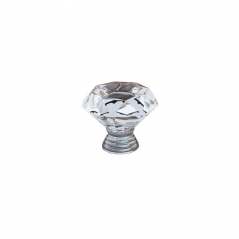 Knob - Modular Design - Diamond Crystal - Clear