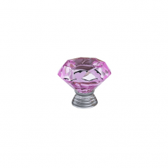 Knob - Modular Design - Diamond Crystal - Pink