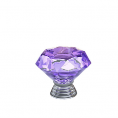 Knob - Modular Design - Diamond Crystal - Purple