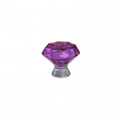 Knob - Modular Design - Diamond Crystal - Fuchsia