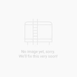 "Solid Hardwood Loft Bed w Vertical Ladder and Long Desk - Modular Design - Panel - 71"" H - Twin - White"