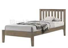 Solid Wood Platform Bed - Crofton - Single - Grey