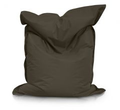 Image of a Large Bean Bag Chair in Charcoal Color in modern rectangular shape, fatboy style, by Bunk Beds Canada.