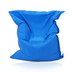 Image of a Large Bean Bag Chair in Blue Color in modern rectangular shape, fatboy style, by Bunk Beds Canada.