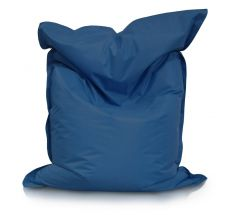 Image of a Large Bean Bag Chair for adults in Royal Blue Color in modern rectangular shape, fatboy style, by Bunk Beds Canada.