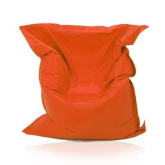 Image of a Large Bean Bag Chair for adults in Orange Color in modern rectangular shape, fatboy style, by Bunk Beds Canada.