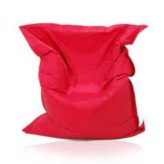 Image of a Large Bean Bag Chair for adults in Red Color in modern rectangular shape, fatboy style, by Bunk Beds Canada.
