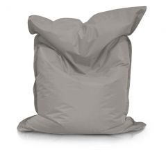 Image of a Large Bean Bag Chair for adults in Taupe Color in modern rectangular shape, fatboy style, by Bunk Beds Canada.