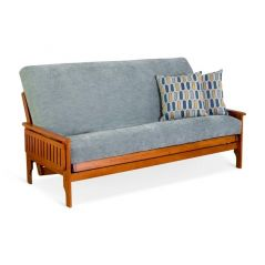 Solid Hardwood Futon Frame - FlipArm - Double - Walnut