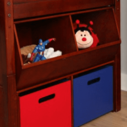 Stacked Cubby n Floor Hutch - Modular Design - 3832 - Chestnut