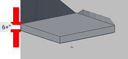 6+ inch mattress thickness