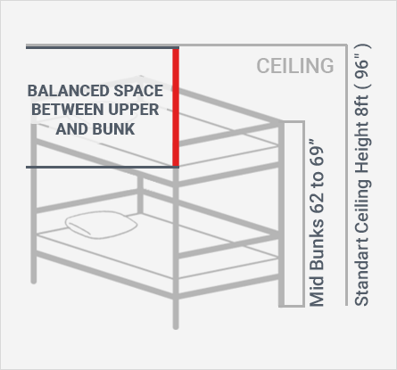 Medium Height Bunk Bed