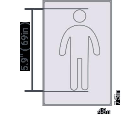 3/4 (Three Quatrter) size mattress